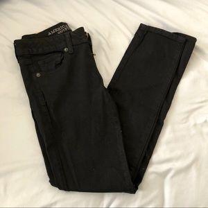 American Eagle Black Skinny Jeans (Short, Size 0)
